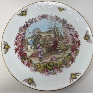Franklin Porcelain The Old Almanac November Plate
